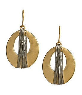 Kenneth Cole New York Wire Wrapped Orbital Drop Earrings Image