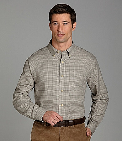 Cremieux Long-Sleeve Plaid Twill Sportshirt
