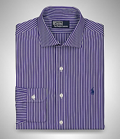 Polo Ralph Lauren Striped Spread-Collar Dess Shirt