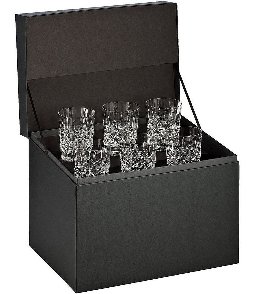 Waterford Lismore 6-Piece Crystal Double Old Fashioned Glass Boxed Set