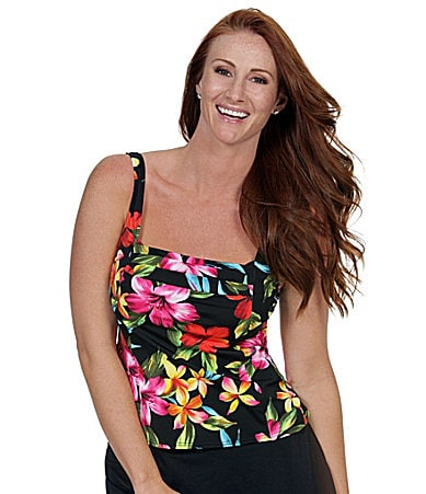 Caribbean Joe Swim Love Story Tankini Top