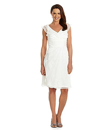 Adrianna Papell Tiered Chiffon Dress