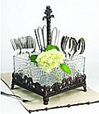 Artimino Venetian Hammered Glass Flatware Caddy