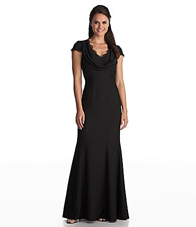 JS Collections Royalty-Inspired Cowlneck Gown