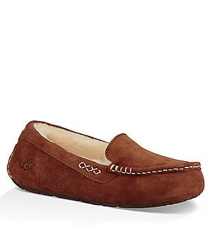 UGG® Ansley Stitch Detailed Moccasin Slippers