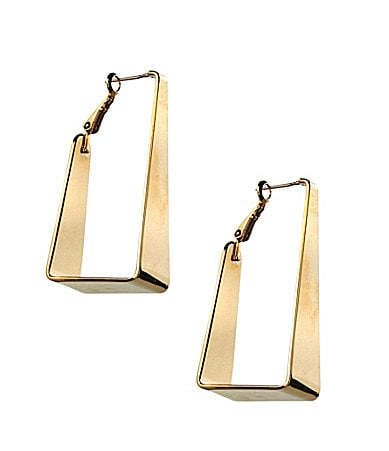 Vince Camuto Goldtone Triangular Hoop Earrings