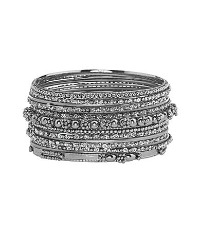 Natasha Accessories Mini Bangle Bracelet Set