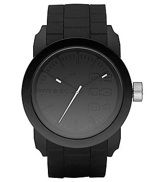 Diesel Black Matte Plastic and Silicone 3 Hand Bracelet Watch