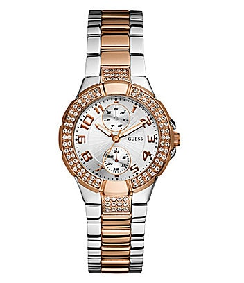 Guess Two-Tone Ladies Multifunction Watch