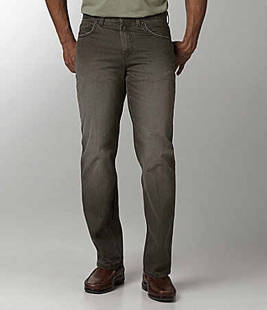 Roundtree & Yorke 5-Pocket Straight-Fit Slub Pants