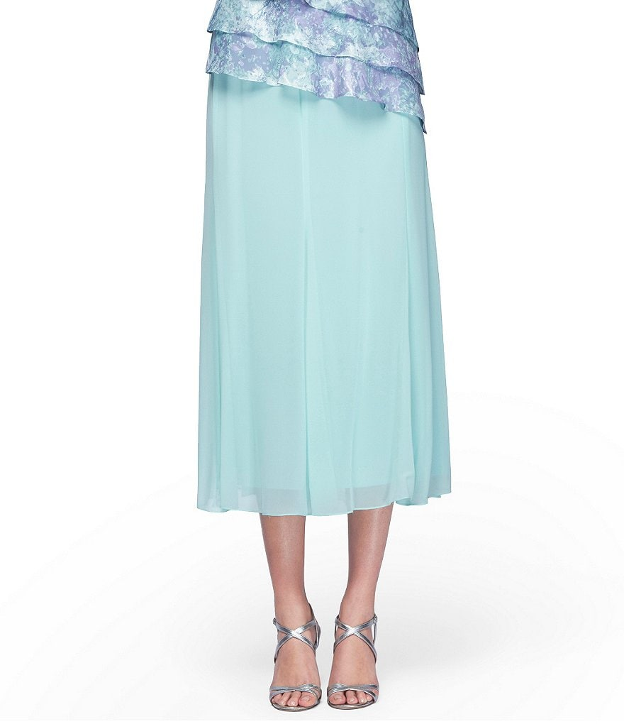 Alex Evenings Petite Chiffon Godet Skirt