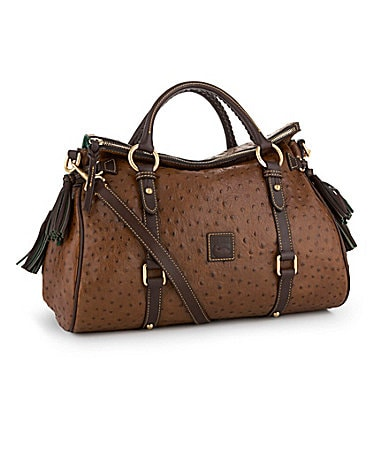 Dooney & Bourke Ostrich-Embossed Florentine Satchel
