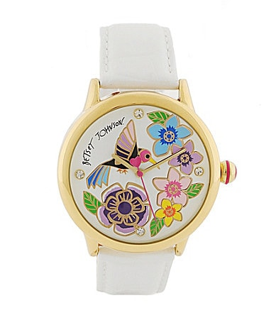 Betsey Johnson Lots N� Lots of Time Hummingbird Watch