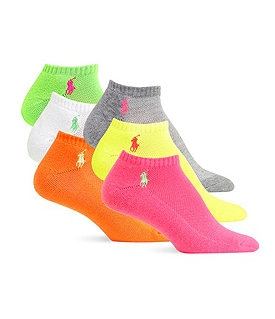 Polo Ralph Lauren Cushion Sole Mesh Top Sport Ped Socks 6-Pack Image