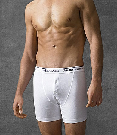 Polo Ralph Lauren Button-Fly Boxer Briefs 3-Pack
