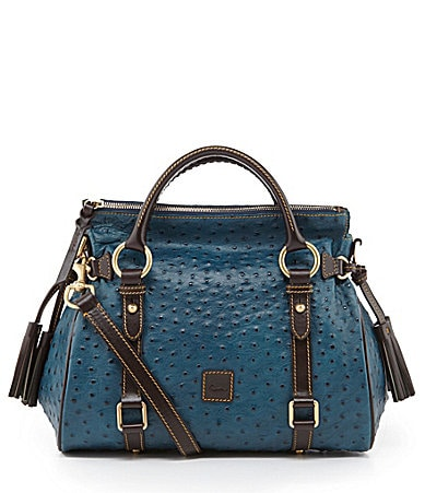 Dooney & Bourke Ostrich-Embossed Florentine Small Satchel