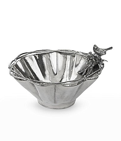 Star Home Designs Birds & Branches Scalloped Serving Bowl