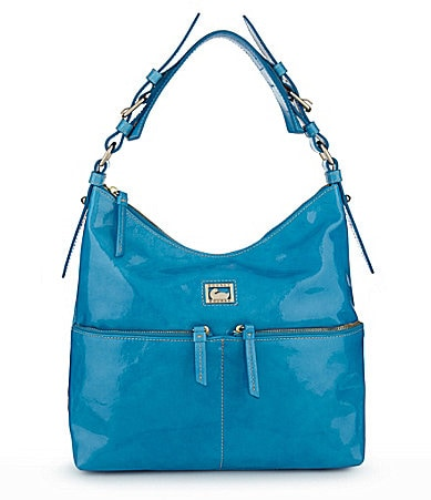 Dooney & Bourke Patent North-South Zipper Satchel