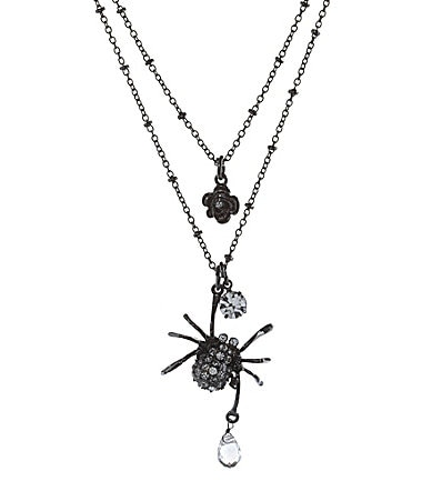 Betsey Johnson Spider Two Row Necklace