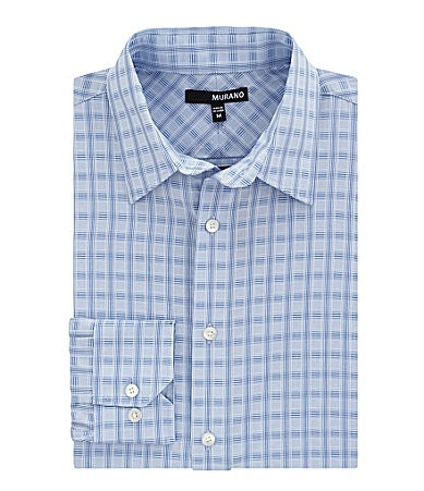 Murano Long-Sleeve Dobby Check Sportshirt