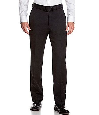 Hart Schaffner Marx Tailored Expander Waist Flat-Front Dress Pants