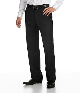 Hart Schaffner Marx Tailored Flat-Front Dress Pants Image
