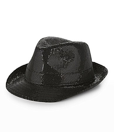 Dillard's Fedora http://www.dillards.com/product/Copper-Key-Sequin-Fedora-Hat_301_-1_301_502791929