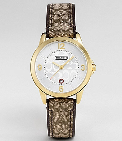 COACH SMALL CLASSIC SIGNATURE STRAP WATCH