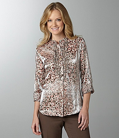 Ruby Rd. Woman Leopard-Print Shirt