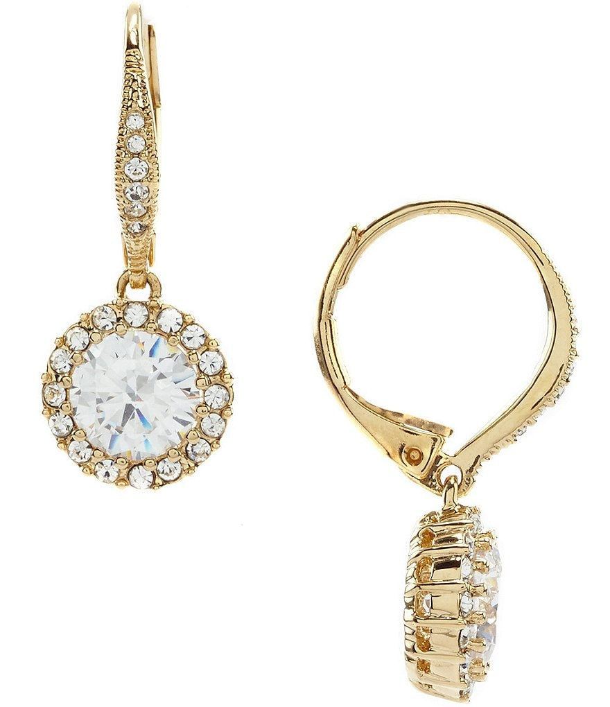 Nadri Framed CZ Drop Earrings
