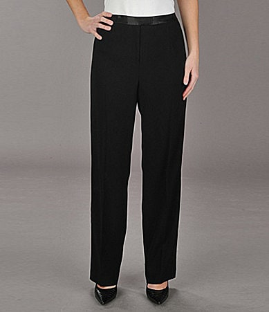 Peter Nygard Satin-Trim Pants
