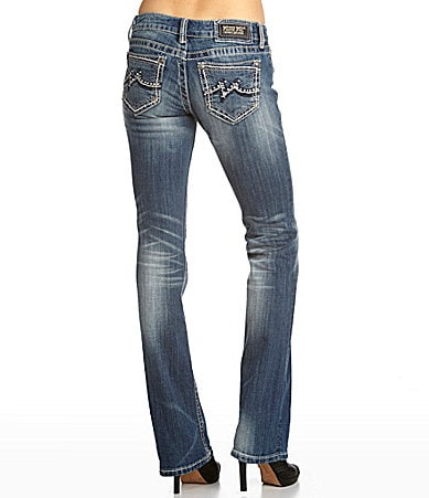 Miss Me Jeans Embroidered-Pocket Bootcut Jeans