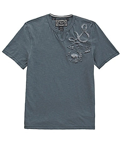 Buffalo David Bitton Nycaz Split Neck Tee