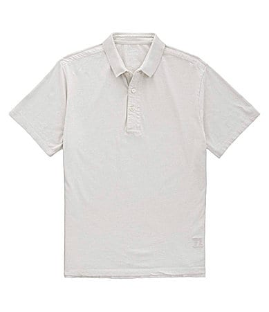Cremieux Jeans Embroidered Slub Henley Polo Shirt