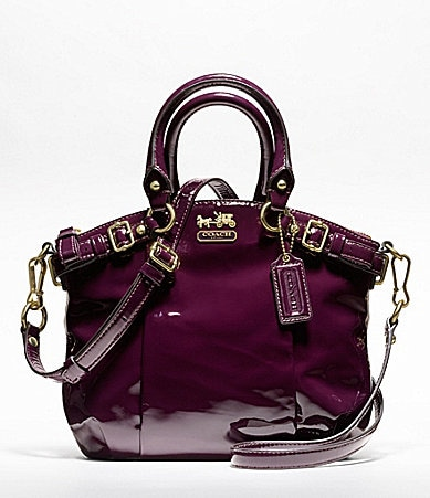 COACH MADISON PATENT MINI SOPHIA SATCHEL