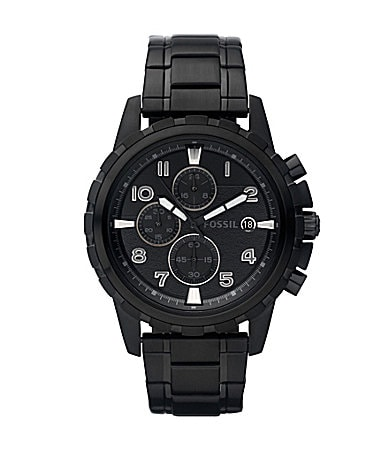 Fossil Dean  Black Dial Chronograph Watch