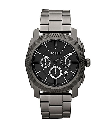 Fossil Machine Gunmetal Chronograph Dress Watch