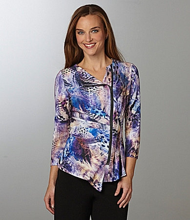 IQ Paris Asymmetric Zip-Front Top