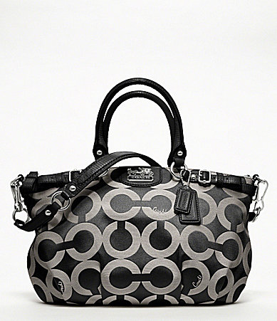 COACH MADISON OP ART SATEEN SOPHIA SATCHEL