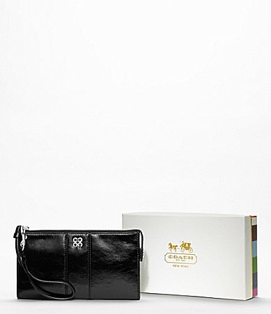 COACH JULIA LEATHER ID CASE ZIPPY WALLET