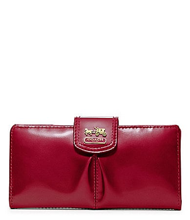 COACH MADISON PATENT SKINNY WALLET