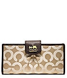 COACH MADISON OP ART SATEEN SKINNY WALLET