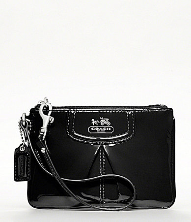 COACH MADISON PATENT SMALL WRISTLET