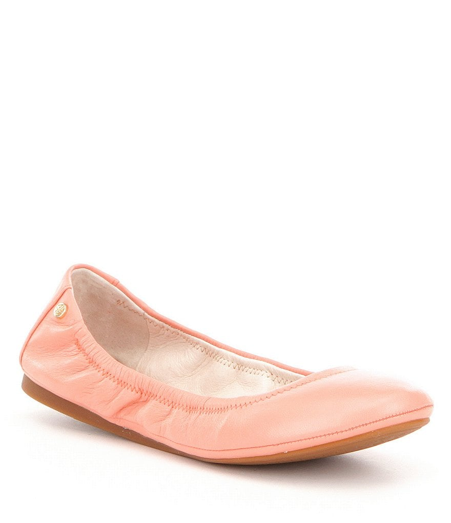 Antonio Melani Prima Leather Slip-On Round Toe Flats