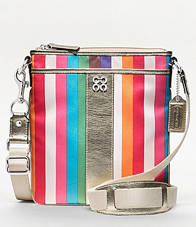 COACH JULIA LEGACY STRIPE SWINGPACK