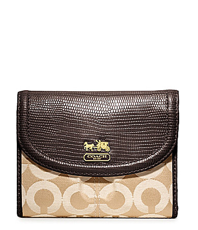 COACH MADISON OP ART SATEEN MEDIUM WALLET