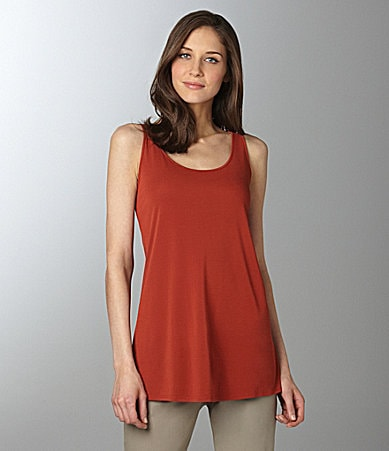 Eileen Fisher Scoopneck Silk-Jersey Tunic