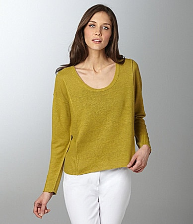 Eileen Fisher Petites Scoopneck Box Top