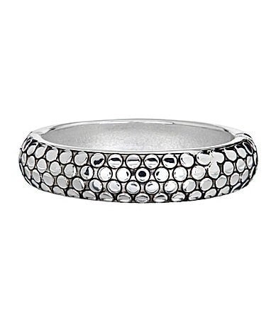 Dillard's Tailored Textured-Dots Hinge Bangle Bracelet