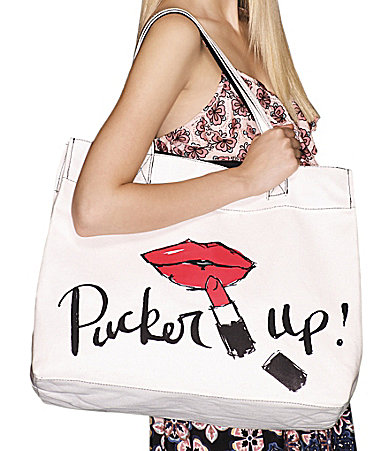 Pucker Up Canvas Tote Special Offer Dillards Exclusive